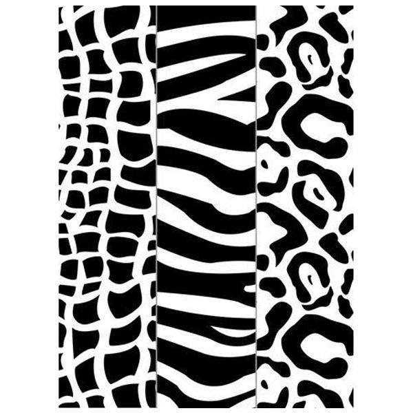 Darice embossing folder animal print dierenprint slang zebra luipaard