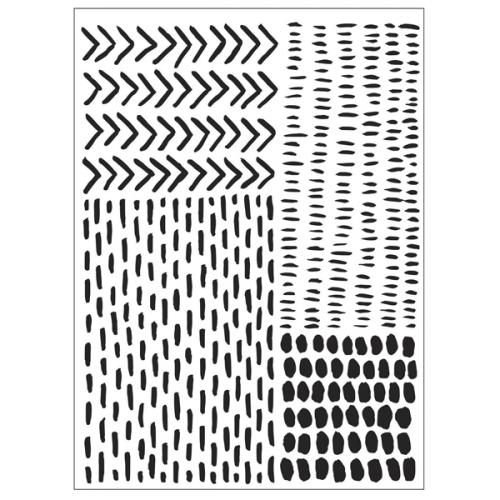 Darice embossing folder strepen stipjes pijlen dots arrows stripes