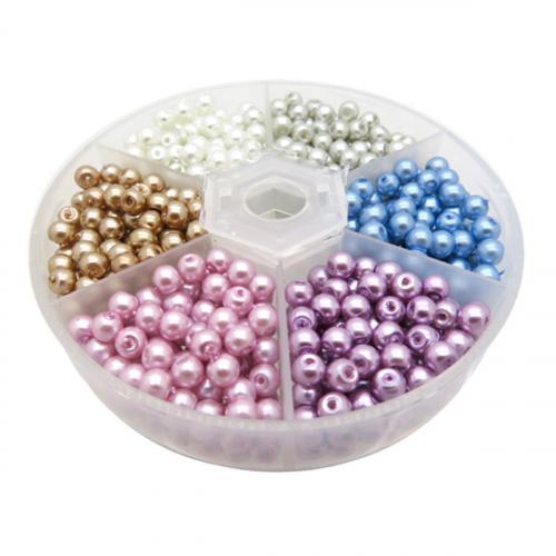 DIY kralenpakket zelf sieraden maken box glasparels 4mm
