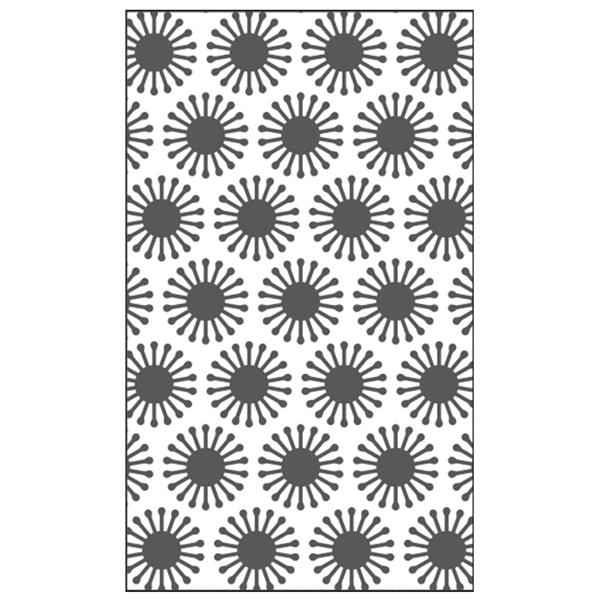 Vaessen Creative embossing folder bloemen zonnen patroon
