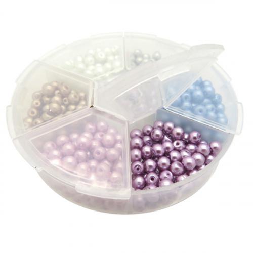 Kleine kralen glasparels kralenpakket box mix