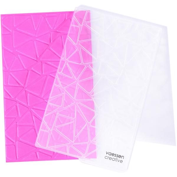 Vaessen Creative embossing folder driehoeken geometrisch patroon