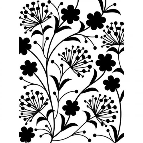 Darice embossing folder patroon bloemen blaadjes dandelions paardenbloemen