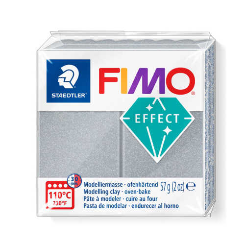 Fimo klei effect metallic silver zilver 81