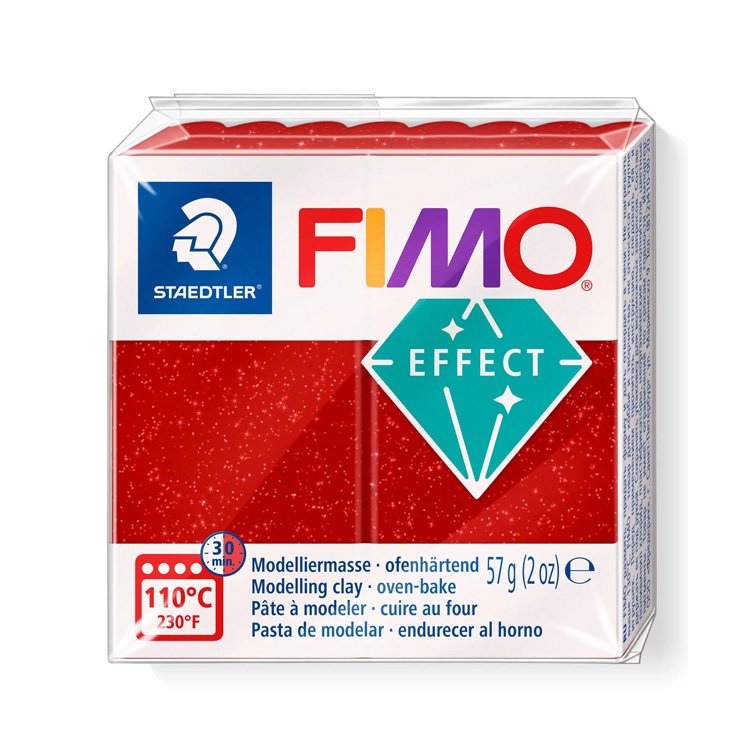Fimo klei glitter rood 202 Lottes Place
