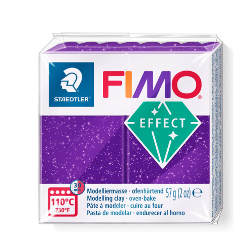 Fimo klei glitter paars 602 Lottes Place