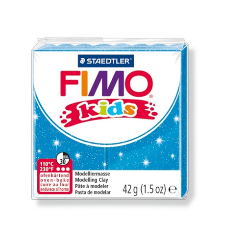 Fimo klei Kids glitter blauw 312 Lottes Place