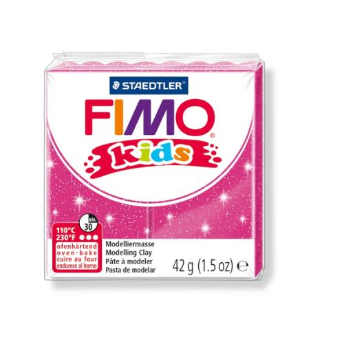 Fimo klei Kids glitter fuchsia roze 262 Lottes Place