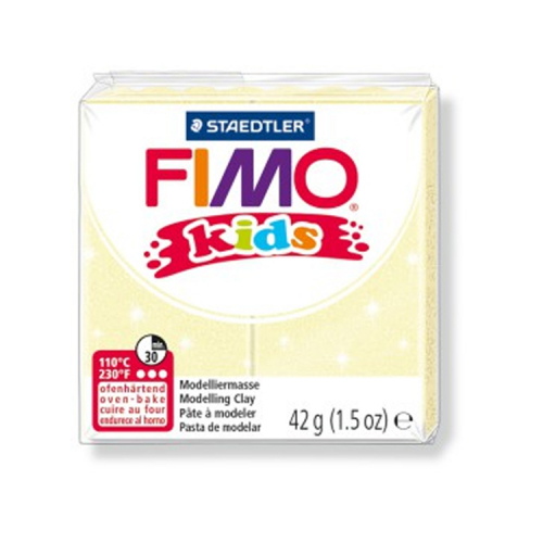 Fimo klei Kids glitter licht geel 116 Lottes Place