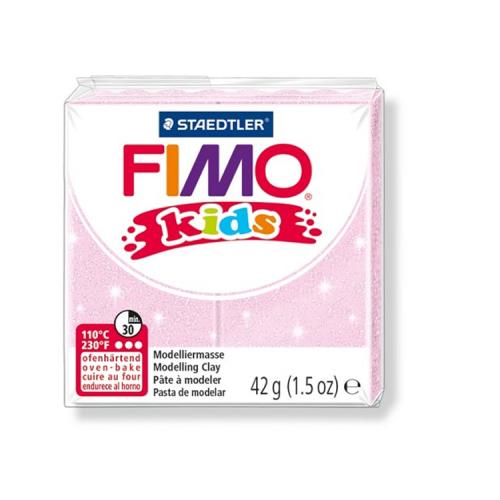 Fimo klei Kids glitter licht roze 206 Lottes Place