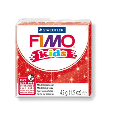 Fimo klei Kids glitter rood 212 Lottes Place