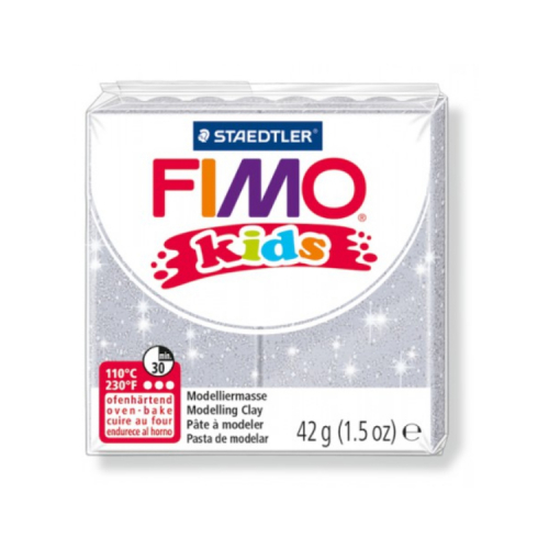 Fimo klei Kids glitter zilver 812 Lottes Place