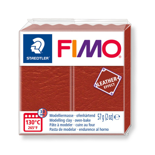 Fimo klei leather Rust roest 749 Lottes Place