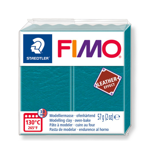 Fimo klei leather effect Lagoon Lagune 369 Lottes Place