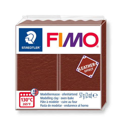 Fimo klei leather effect nut noot 779 Lottes Place