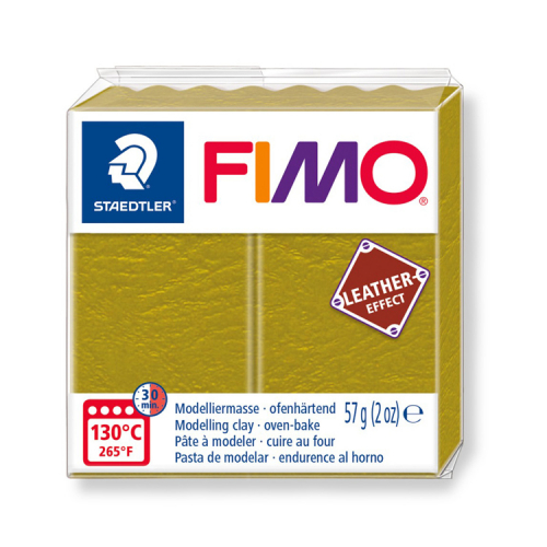 Fimo klei leather effect olijf olive 519 Lottes Place