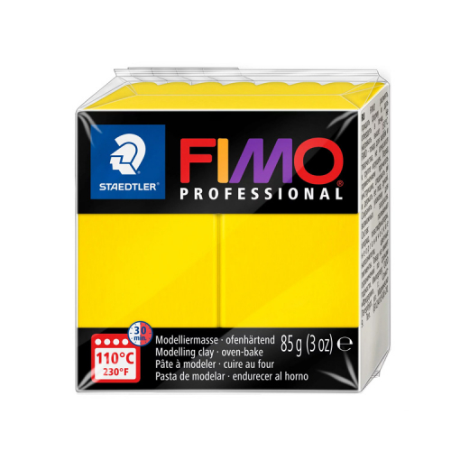 Fimo klei professional primair geel true yellow 100 Lottes Place