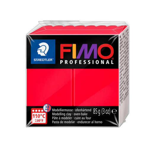 Fimo klei professional true red primair rood 200 Lottes Place