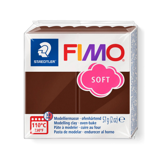 Fimo klei soft chocolade bruin 75 Lottes Place