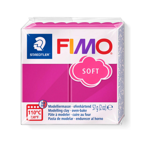 Fimo klei soft framboos roze 22 Lottes Place