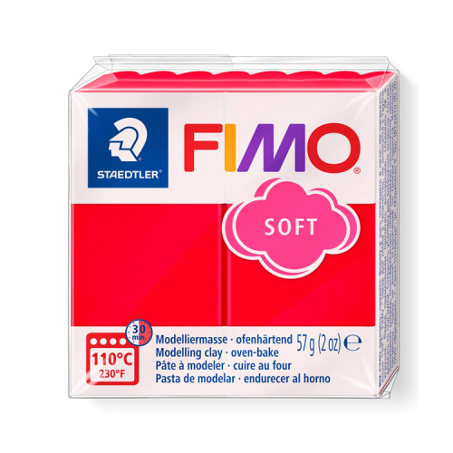 Fimo klei soft indisch rood 24 Lottes Place