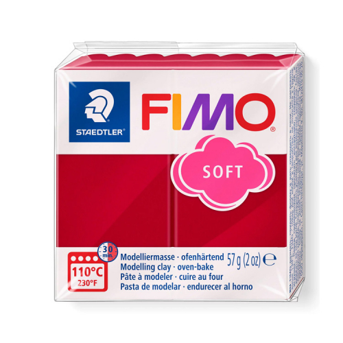 Fimo klei soft kers rood 26 Lottes Place