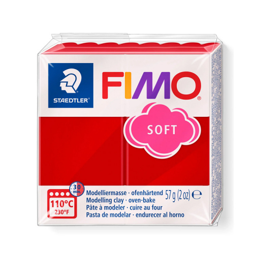 Fimo klei soft kerst rood 2 lottes place