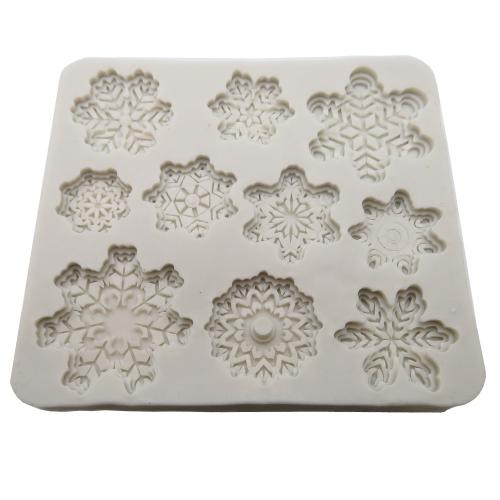 Silicone mal sneeuwvlokken frozen Fimo klei