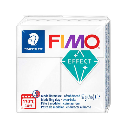 Fimo effect transparant wit 014