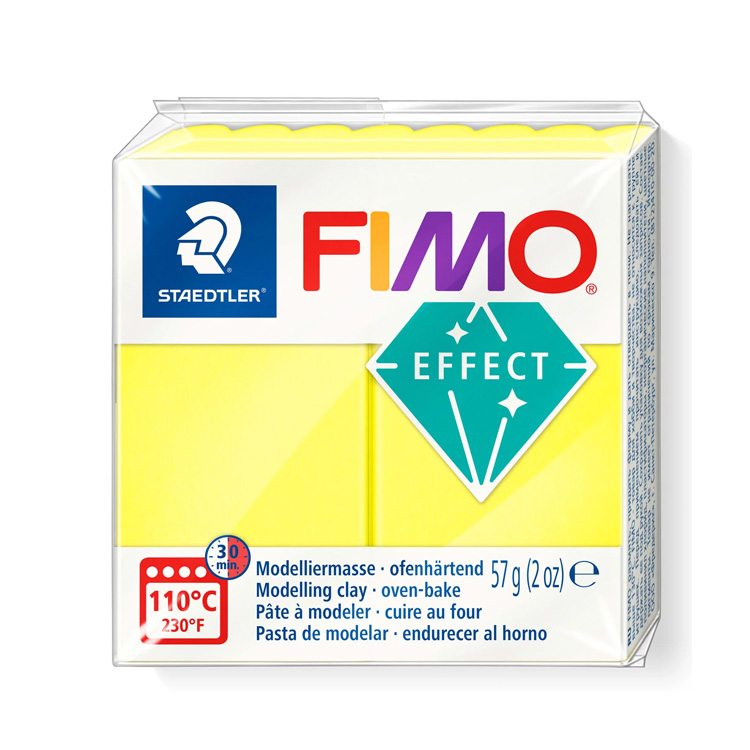Fimo effect neon geel 101 Lottes Place