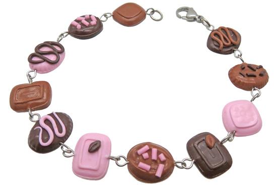 Fimo klei voorbeeld chocolade armbandje