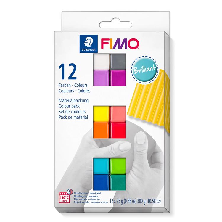 Fimo soft Set 12 halve blokken brilliant