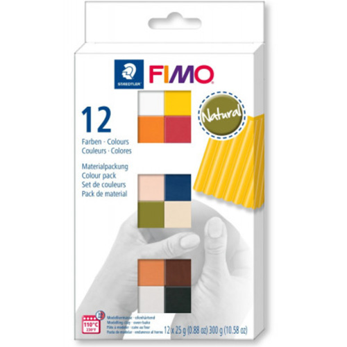 Fimo soft Set 12 halve blokken natural