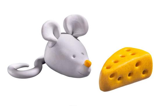 Kleien met kinderen muisje
