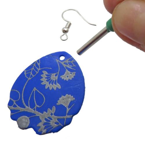 Mini ronde snijder fimo klei gaatjes oorbellen maken