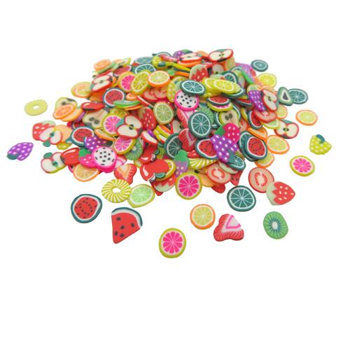 Polymeer klei fruit schijfjes