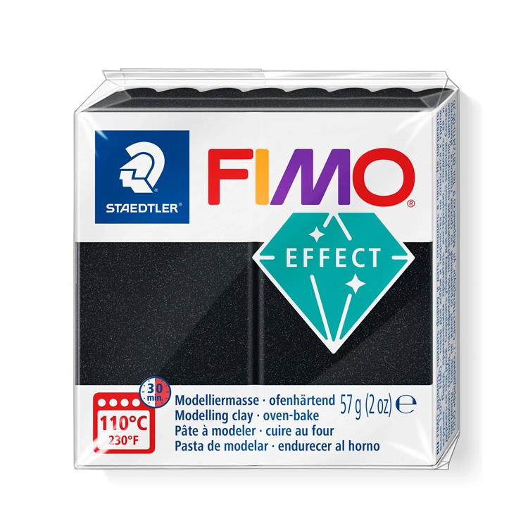 Fimo effect parelmoer zwart 907