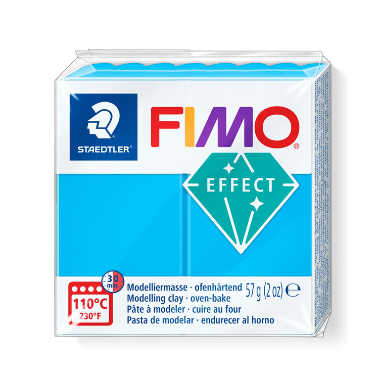 Fimo effect transparant blauw 374