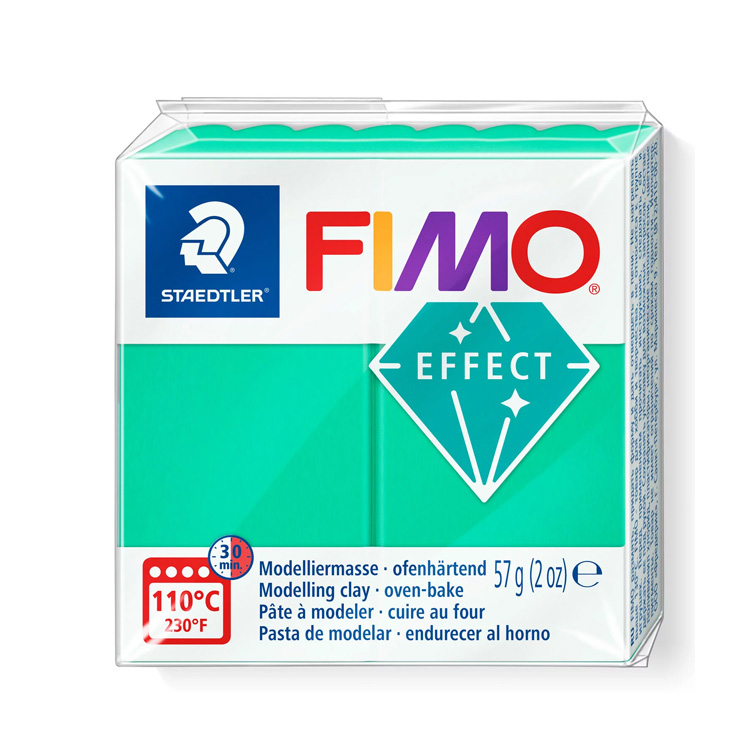Fimo effect translucent groen 504