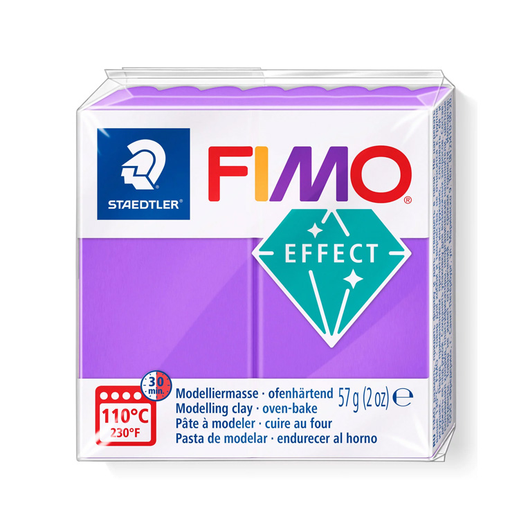 Fimo effect translucent paars 604