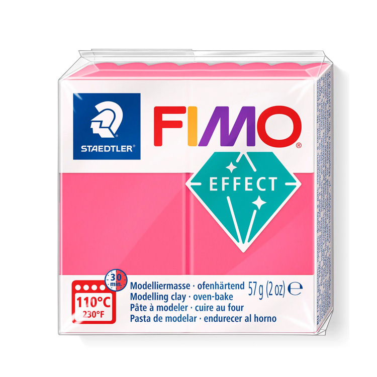 Fimo effect transparant rood 204