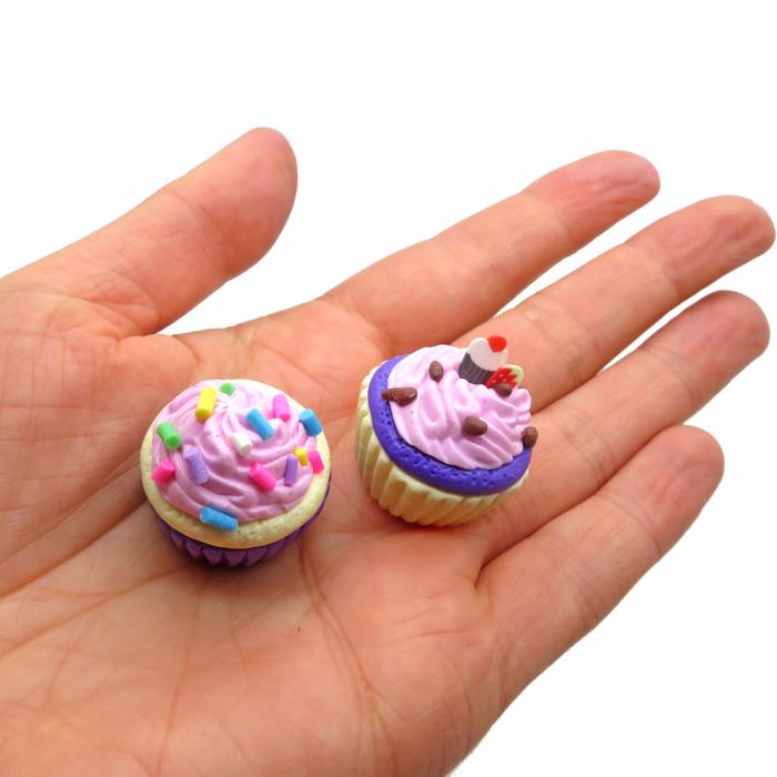 Cupcakes maken van klei