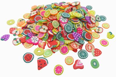 Fruitschijfjes van klei