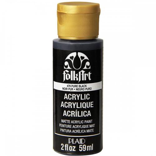 Folkart acryl verf Pure black