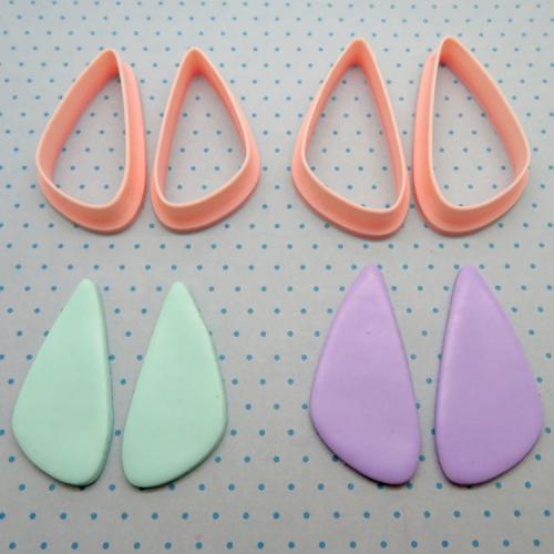 Uitsteekvorm klei oorbellen