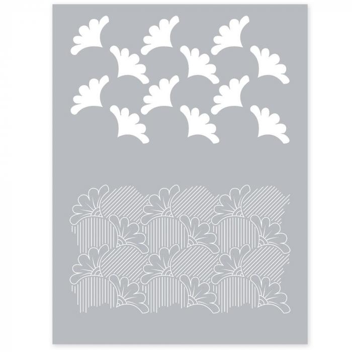 silk screen bloemen