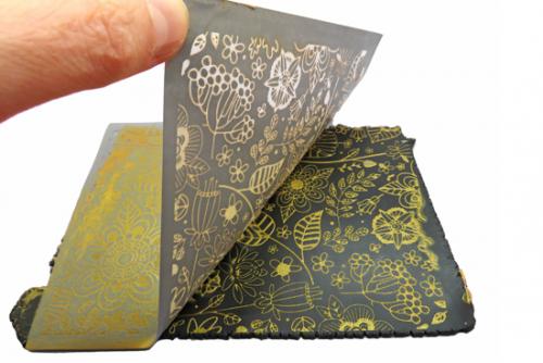 silk screen op polymeer klei gebruiken