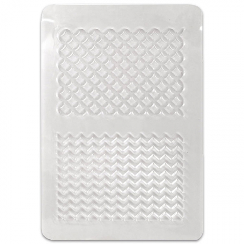 textuur plaat geometrische patronen klei