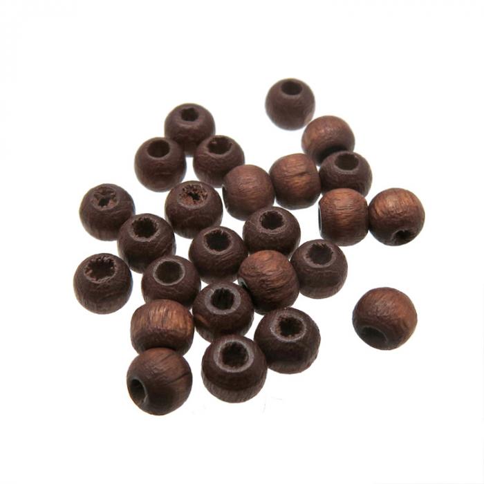 Bruine houten kraaltjes 4mm rond