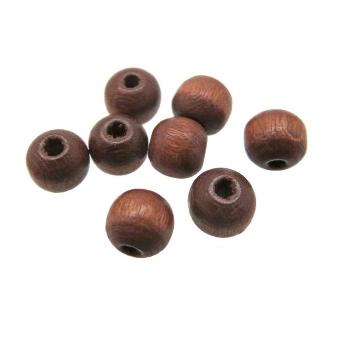 bruine houten kralen 6mm